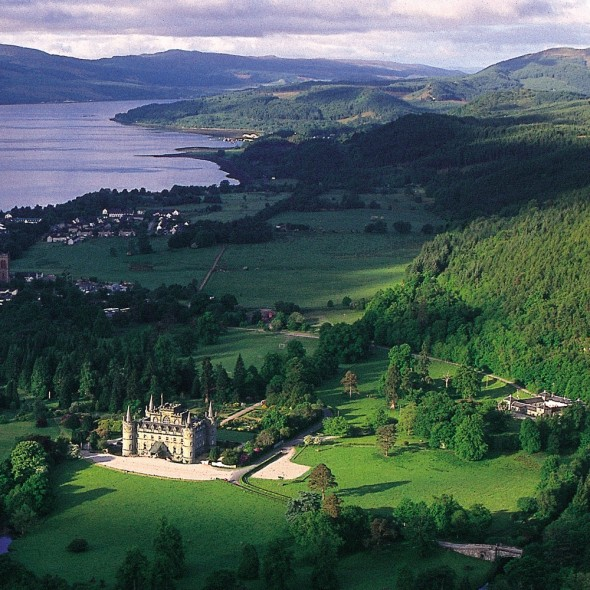 Inveraray Castle from the air