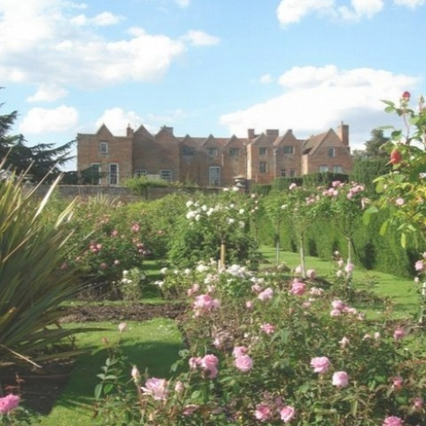 Glemham Hall - sweeping lawns and exquisite rose gardens