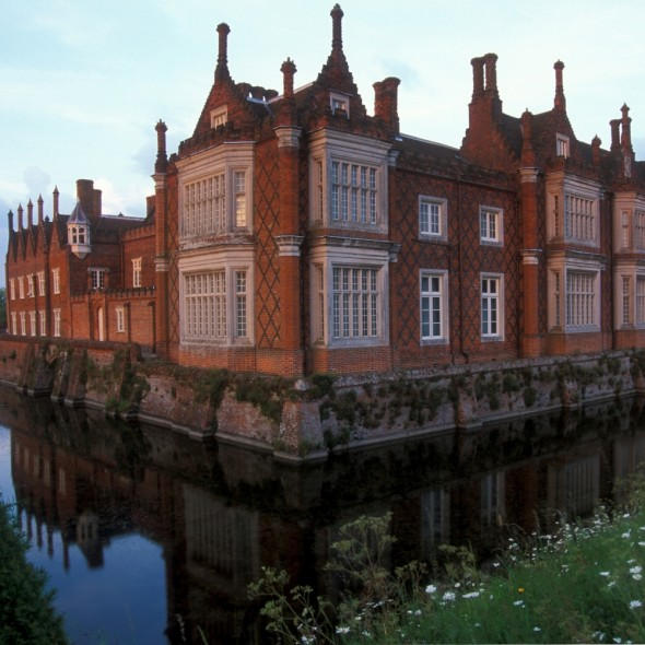 Helmingham Hall and impressive moat
