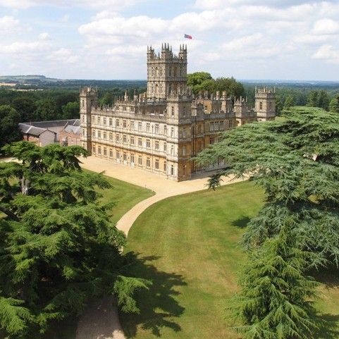 Highclere Castle from the air