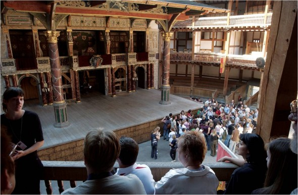 Shakespeare's Globe view of stage and Groundlings